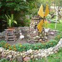 необычное оформление дизайна загородного дома камнями картинка
