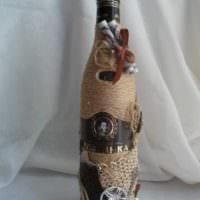 необычное оформление бутылок для интерьера комнаты картинка