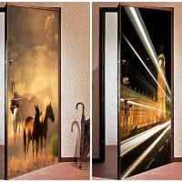 необычное декорирование межкомнатных дверей своими руками фото