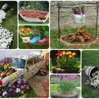 интересное декорирование сада подручными материалами фото