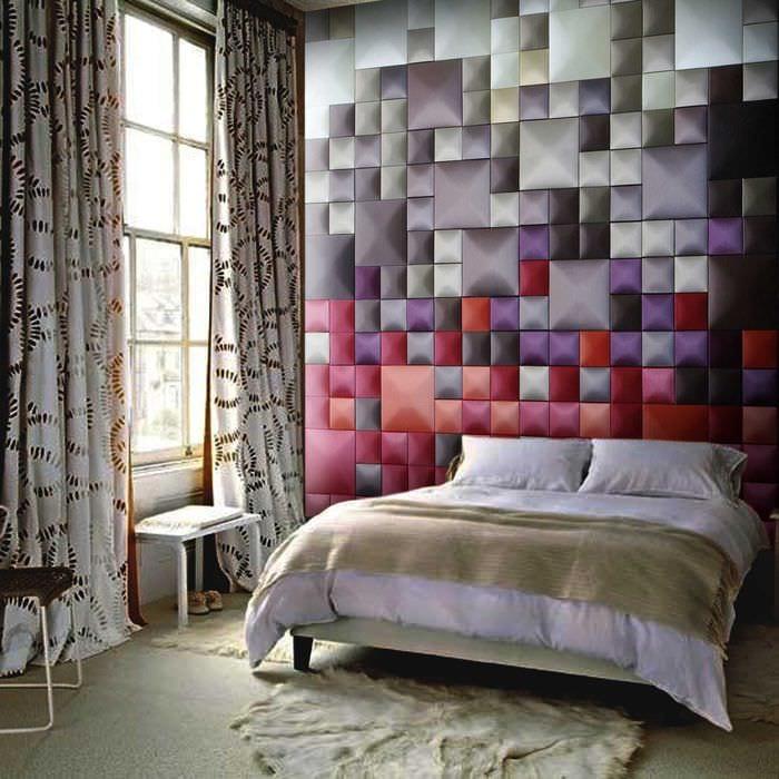 светлый дизайн гостиной со стеновыми панелями