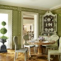 светлый интерьер гостиной в весеннем стиле картинка