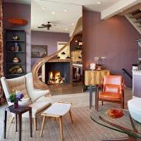 светлый дизайн квартиры в стиле модерн картинка