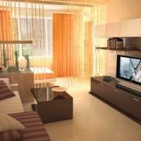 светлый дизайн спальни и гостиной в одной комнате фото