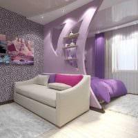 красивый интерьер спальни гостиной картинка