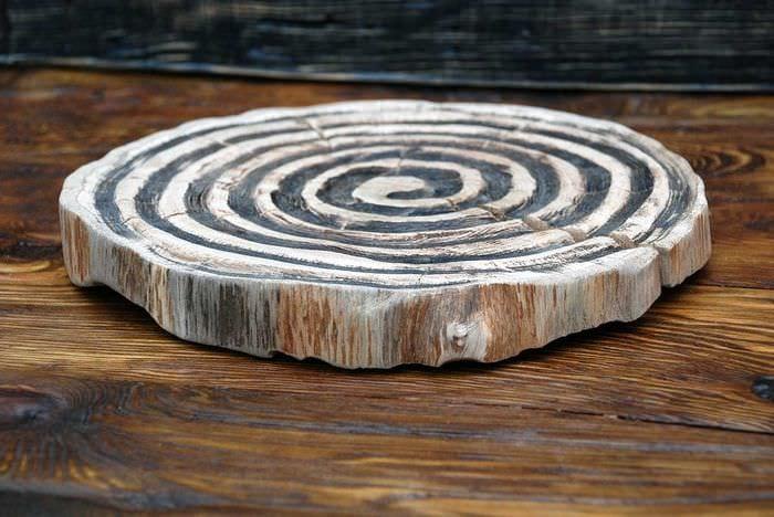 Деревянный срез для декора