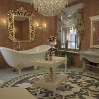 яркий интерьер комнаты в стиле ампир картинка