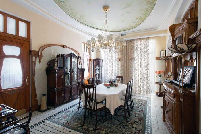 яркий декор спальни в стиле модерн