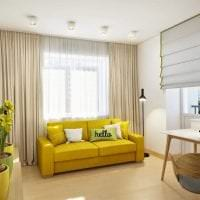 красивый стиль дома в горчичном цвете картинка