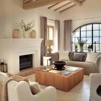 необычный дизайн гостиной в греческом стиле картинка
