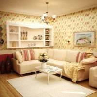 оригинальный дизайн спальни в стиле прованс картинка
