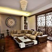 современный дизайн гостиной в восточном стиле картинка