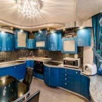 светлый дизайн спальни в голубом цвете картинка