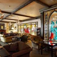 красивый интерьер комнаты в готическом стиле картинка