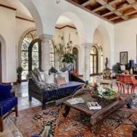 необычный стиль гостиной в готическом стиле фото