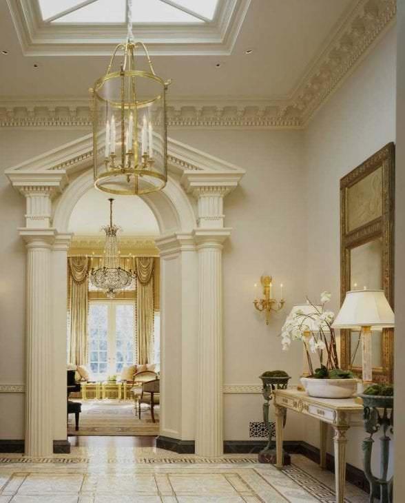 красивый стиль комнаты в греческом стиле