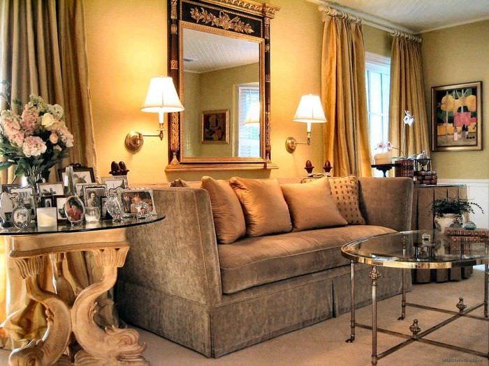 красивый интерьер комнаты в винтажном стиле