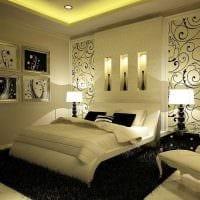 необычный декор спальной комнаты фото