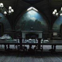 современный стиль комнаты в готическом стиле фото