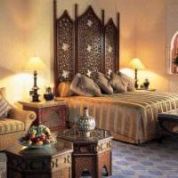 красивый дизайн спальни в восточном стиле фото