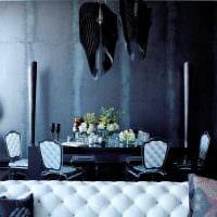 красивый интерьер гостиной в готическом стиле фото