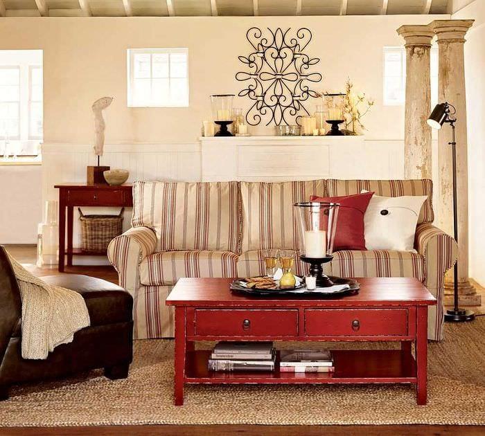 яркий дизайн квартиры в винтажном стиле