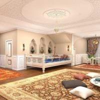 красивый дизайн спальни в восточном стиле картинка