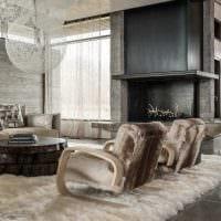 светлый интерьер квартиры со старыми досками фото