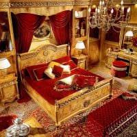 необычный дизайн спальни в стиле ампир картинка