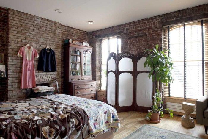необычный фасад спальни в восточном стиле
