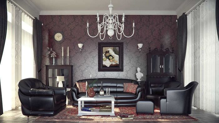 красивый стиль квартиры в готическом стиле