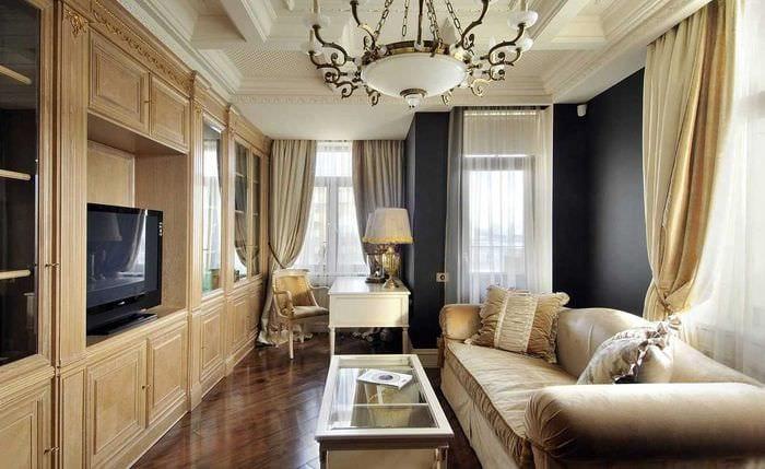 необычный декор квартиры в стиле ампир