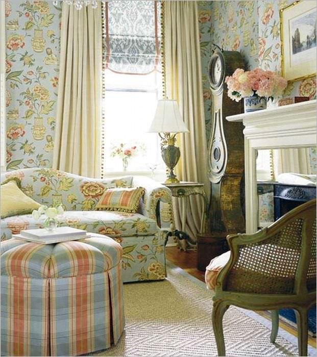 оригинальный дизайн комнаты в стиле прованс