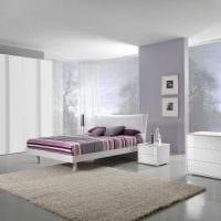 светлый дизайн спальной комнаты картинка