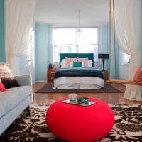 оригинальный интерьер спальни гостиной фото