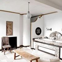 классический интерьер квартиры в стиле рустик фото