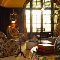 яркий дизайн комнаты в винтажном стиле картинка