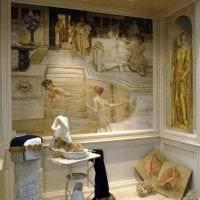красивый стиль квартиры в греческом стиле картинка