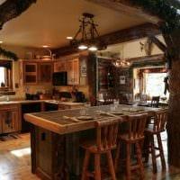 яркий декор кухни в стиле рустик картинка