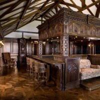 красивый дизайн спальни в готическом стиле картинка