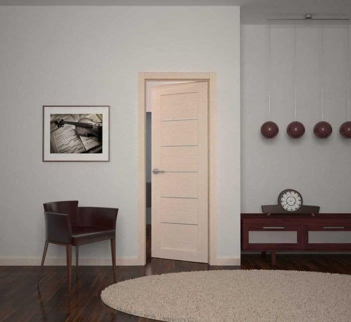 деревянные двери в стиле квартиры
