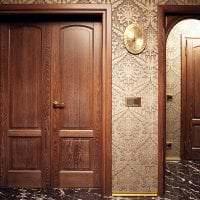 темные двери в интерьере гостиной фото