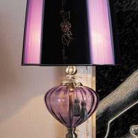 оригинальное украшение абажура лампы подручными материалами картинка
