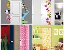 оригинальное декорирование входных дверей подручными материалами фото