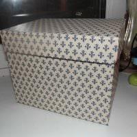 оригинальное украшение коробок для хранения подручными материалами картинка