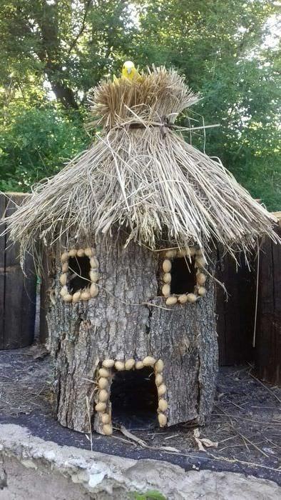 оригинальное оформление декора загородного дома подручными средствами