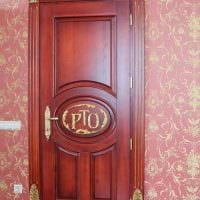необычное декорирование межкомнатных дверей подручными материалами фото