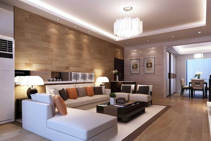 светлый интерьер спальни в стиле модерн