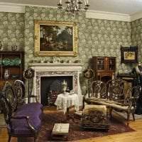 темный интерьер комнаты в викторианском стиле фото