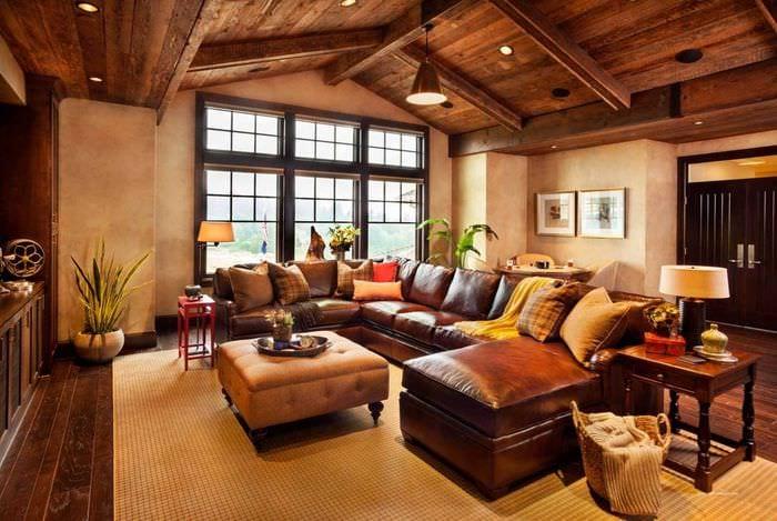 классический стиль квартиры в стиле рустик